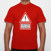 Caution! - Camiseta Fruit of The Loom  Valueweight